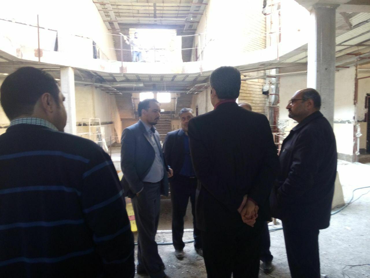 بازدید شهردار محترم کاشان از پروژه ساختمان ستادی شهرداری
